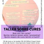 Tallers de particpació i sensibilització sobre les cures a Cunit