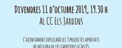 Imatge de El govern explica els projectes de millora dels accessos a Jardins, Rosers i Costa Cunit 4