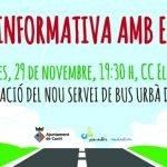 L'Ajuntament convoca 5 reunions veïnals per tractar sobre el nou servei de transport urbà