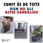 Crida contra el vandalisme
