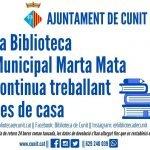 La Biblioteca Municipal Marta Mata continua treballant des de casa