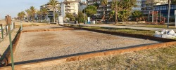 Imatge de Enllestida la reparació de les pistes de petanca platja després del pas del temporal Glòria 2