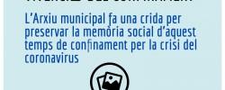"""Imatge de """"Vivències del Confinament"""", iniciativa per preservar la memòria del temps de confinament 5"""