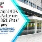 Preinscripcions al CFA Dolors Paul pel curs 2020-2021