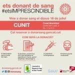 16 de juliol – Vine a donar sang al Casal!