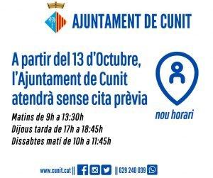 Imatge de L'OAC de l'Ajuntament de Cunit atendrà sense cita prèvia 2