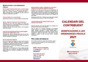 Imatge de Ja està disponible online el Calendari del Contribuent 2021 2
