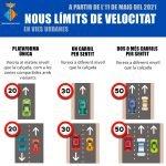 Read more about the article En vigor nous límits de velocitat
