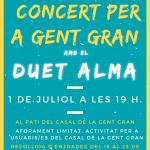 Concert amb el Duet Alma al Casal de la Gent Gran