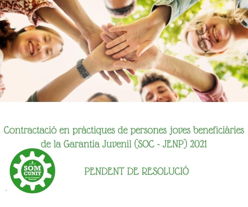 Imatge de Contractació en pràctiques de persones joves beneficiàries de la Garantia Juvenil (SOC – JENP) 2021 2