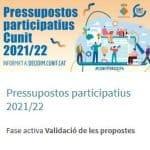 Read more about the article La ciutadania presenta 78 propostes als pressupostos participatius de Cunit