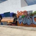 Read more about the article Impressionant mural elaborat pels joves del curs de graffiti.